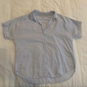 H&M Striped Short Sleeve Button Up Shirt